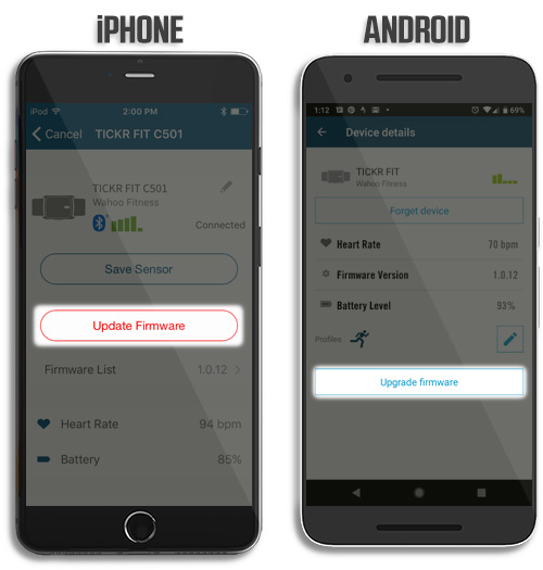 Updating Firmware on Wahoo Sensors – Wahoo Fitness Support